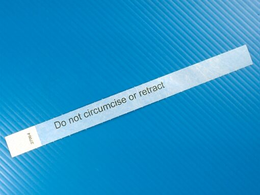 Do not circumcise or retract infant ankle band