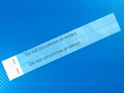 2 Do not circumcise or retract infant ankle bands