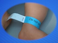 Do not circumcise infant ankle band