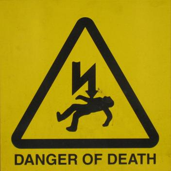 Danger sign spotted in London - 2006