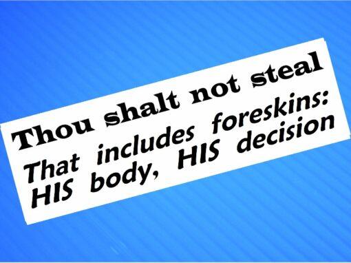 Sticker- Thou Shalt Not Steal
