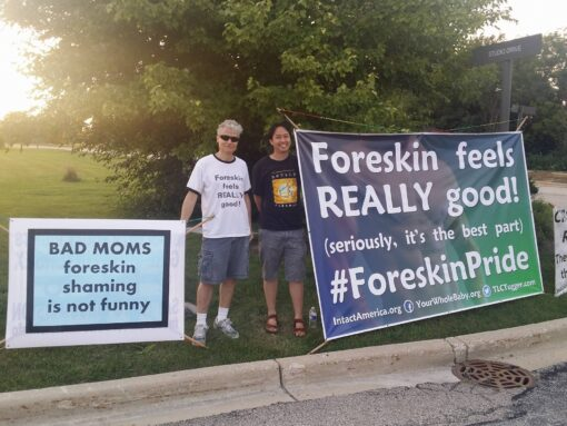 Bad Moms Screening - #Foreskin Pride demo July 31, 2106 Ron & Darren