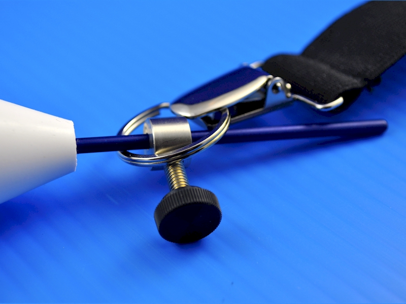 The valet ring lets the TLC Hanger, VLC Hanger, or TLC Air clip securely to a strap.